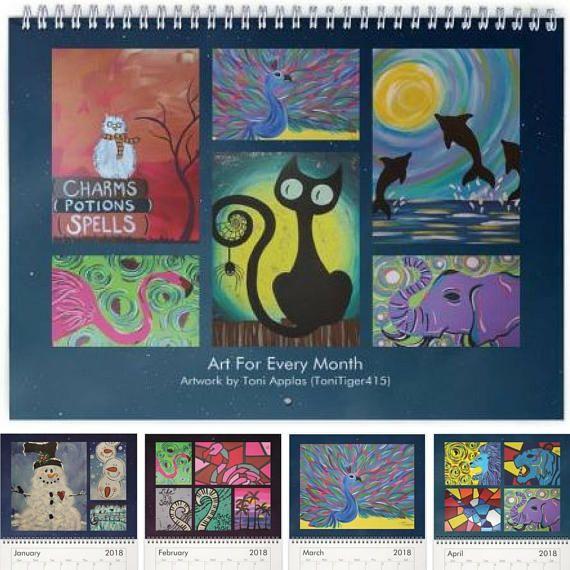 2018 Wall Calendar 2018 Art Wall Calendar Fine Art Calendar   Etsy ...