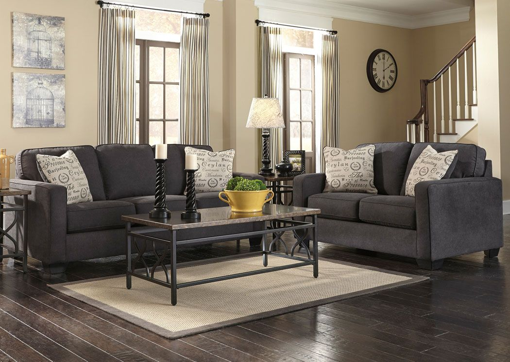 Jennifer convertibles sofas sofa beds bedrooms dining for Gray living room furniture ideas