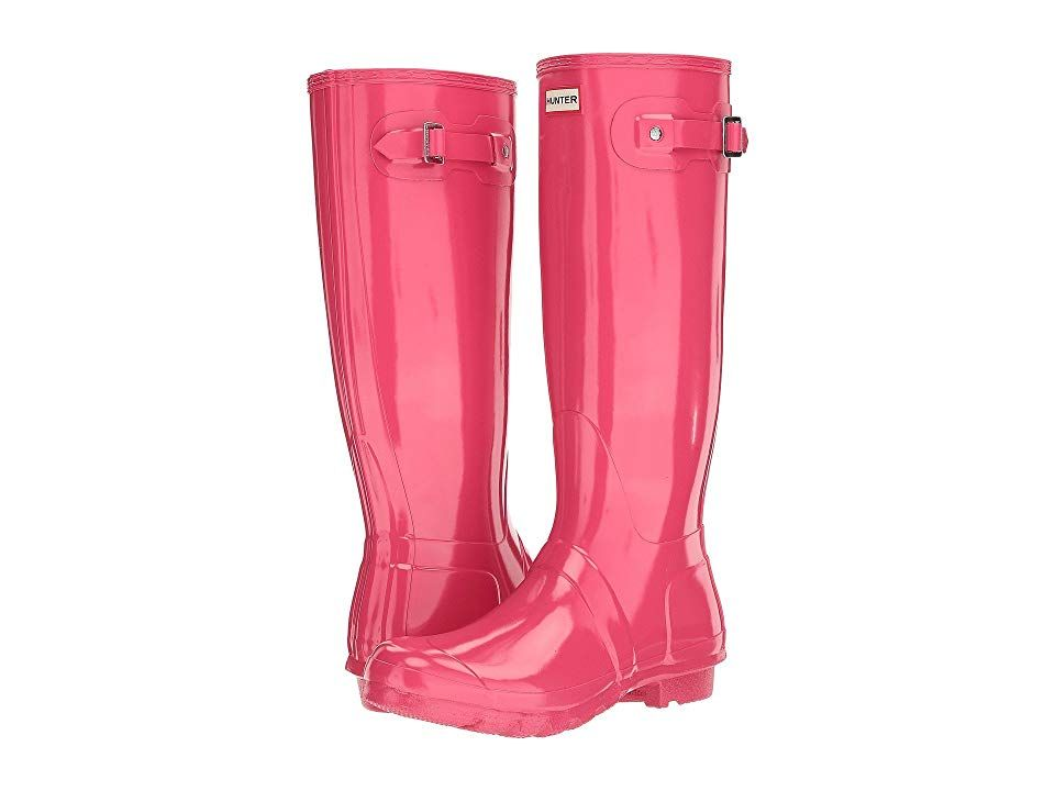 Hunter Original Tall Gloss Rain Boots Bright Pink Women S Shoes Note Select Your Us Size Please Be Advised The Product Boots Rain Boots Womens Rain Boots