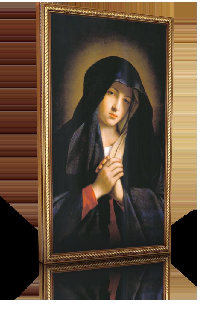 Madonna in Sorrow - 10x18 - Gold Frame - Lighthouse Catholic Media ...