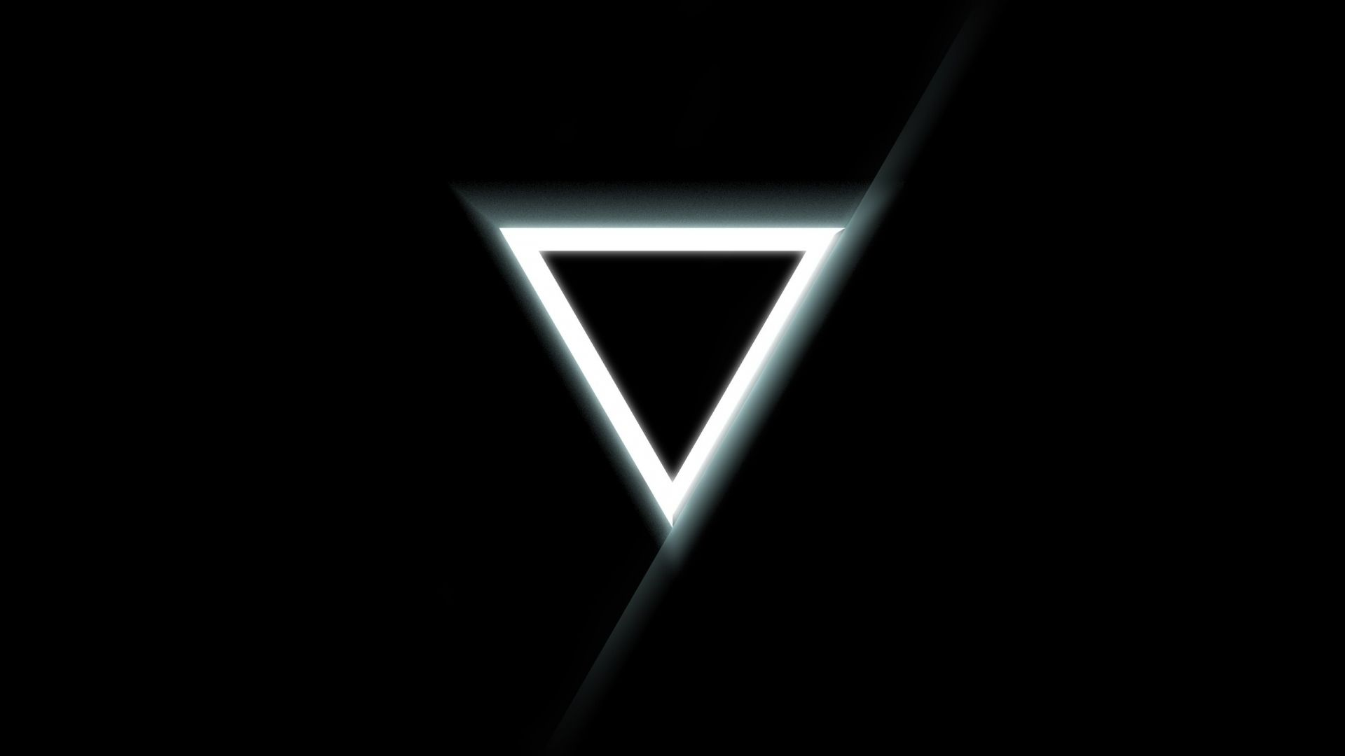 download wallpaper 1920x1080 triangle inverted black white full
