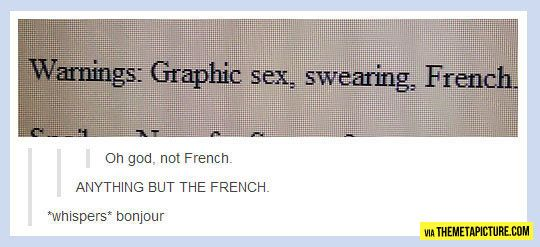 TURN IT OFF IT'S FRENCH XD