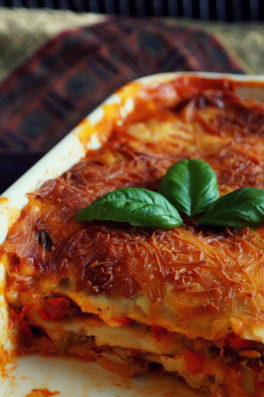 Klassische mediterrane Hackfleisch Lasagne