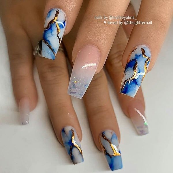 The Latest Coffin Nails Design For Fall And Winter Nailswinter Nailsfall Summernails Fall Nail Designs Coffin Nails Designs Nail Designs