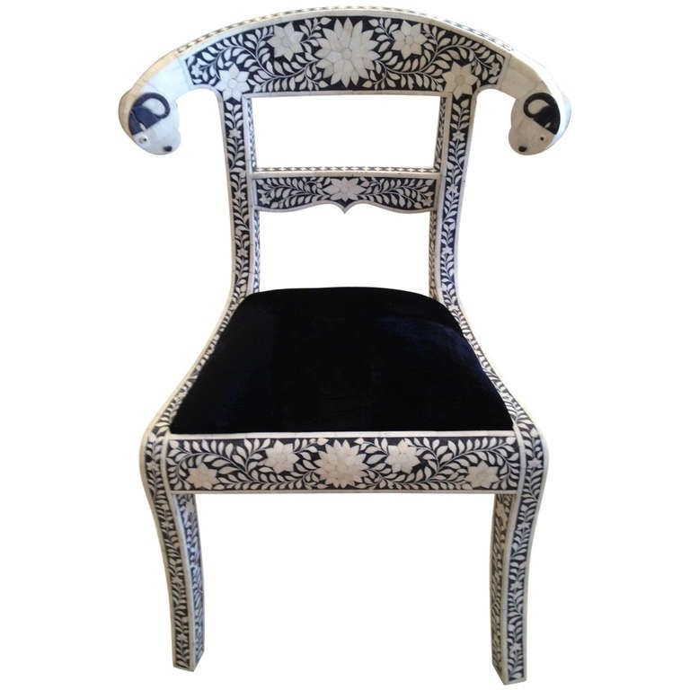 Middle Eastern Regency Style Chair | From a unique collection of antique and modern chairs at http://www.1stdibs.com/furniture/seating/chairs/