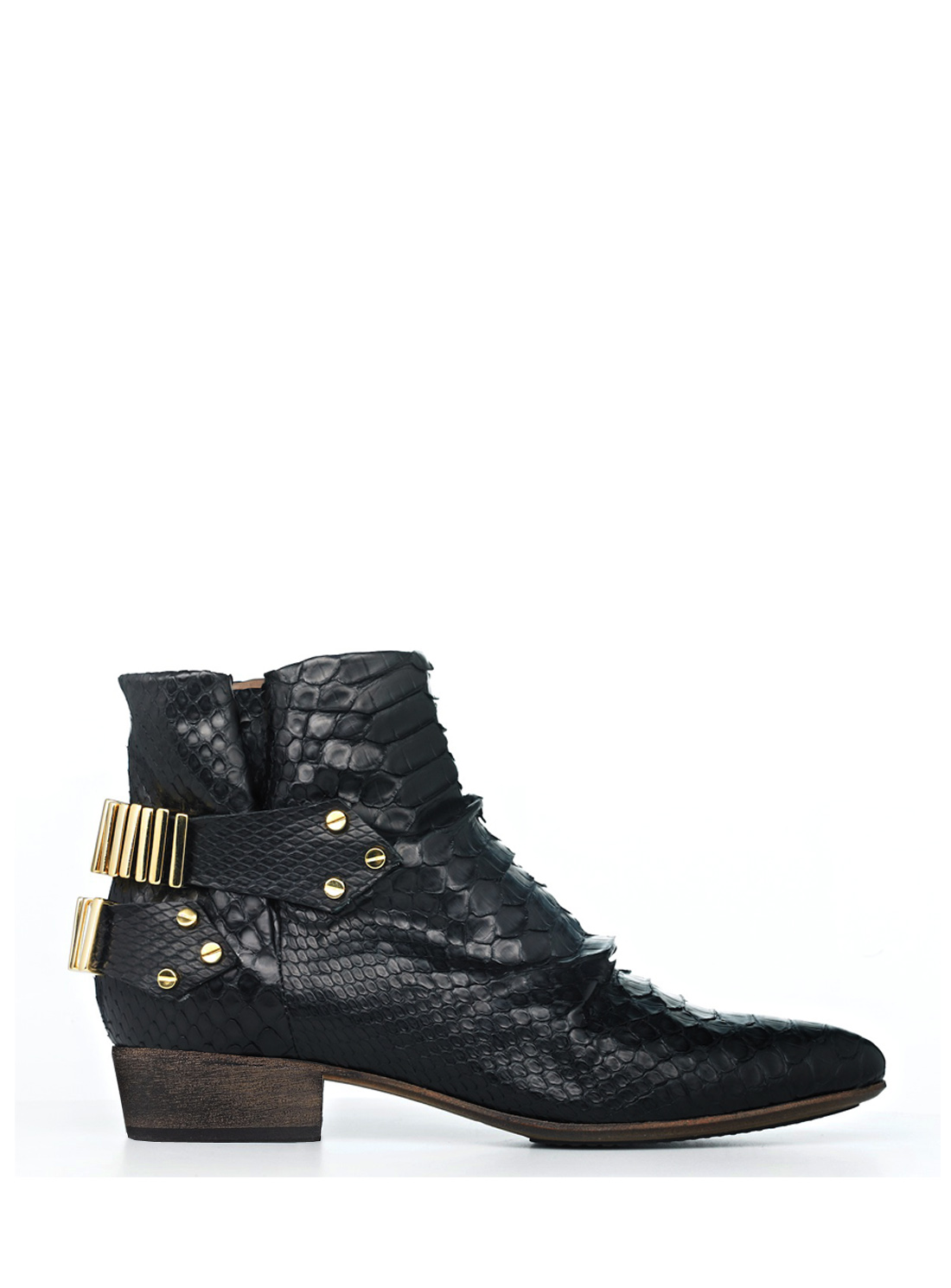 Young British Designers - Lo Ankle Boot by FURY in Black Python by FURY / Shoes    Don't forget to visit www.odiousstyle.blogspot.com to see what else I prepared for you! :)