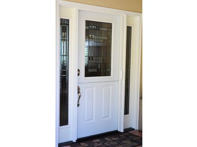 Plastpro white Dutch Entry Door with Kensington Glass and Patina Caming. Two sidelights.  sc 1 st  Pinterest & Plastpro white Dutch Entry Door with Kensington Glass and Patina ...