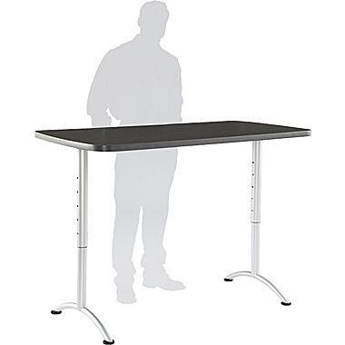 Iceberg Arc 30 W Adjustable Table Laminate Wood 69317