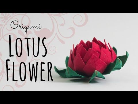 How to make an origami lotus flower youtube origami pinterest how to make an origami lotus flower youtube mightylinksfo Gallery