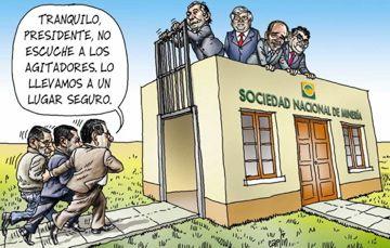 El trazo de Carlín sobre Ollanta Humala y el secuestro de la Sociedad Nacional de Minería, Petróleo y Energía