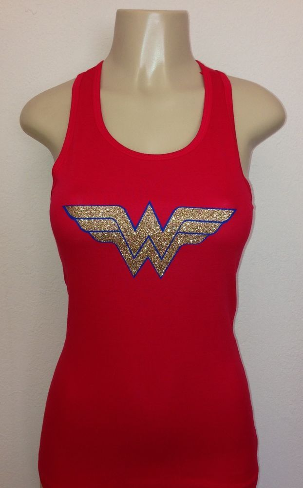 Glitter Wonder Woman Racerback Tank Top Women's $19 + $3.50 shipping