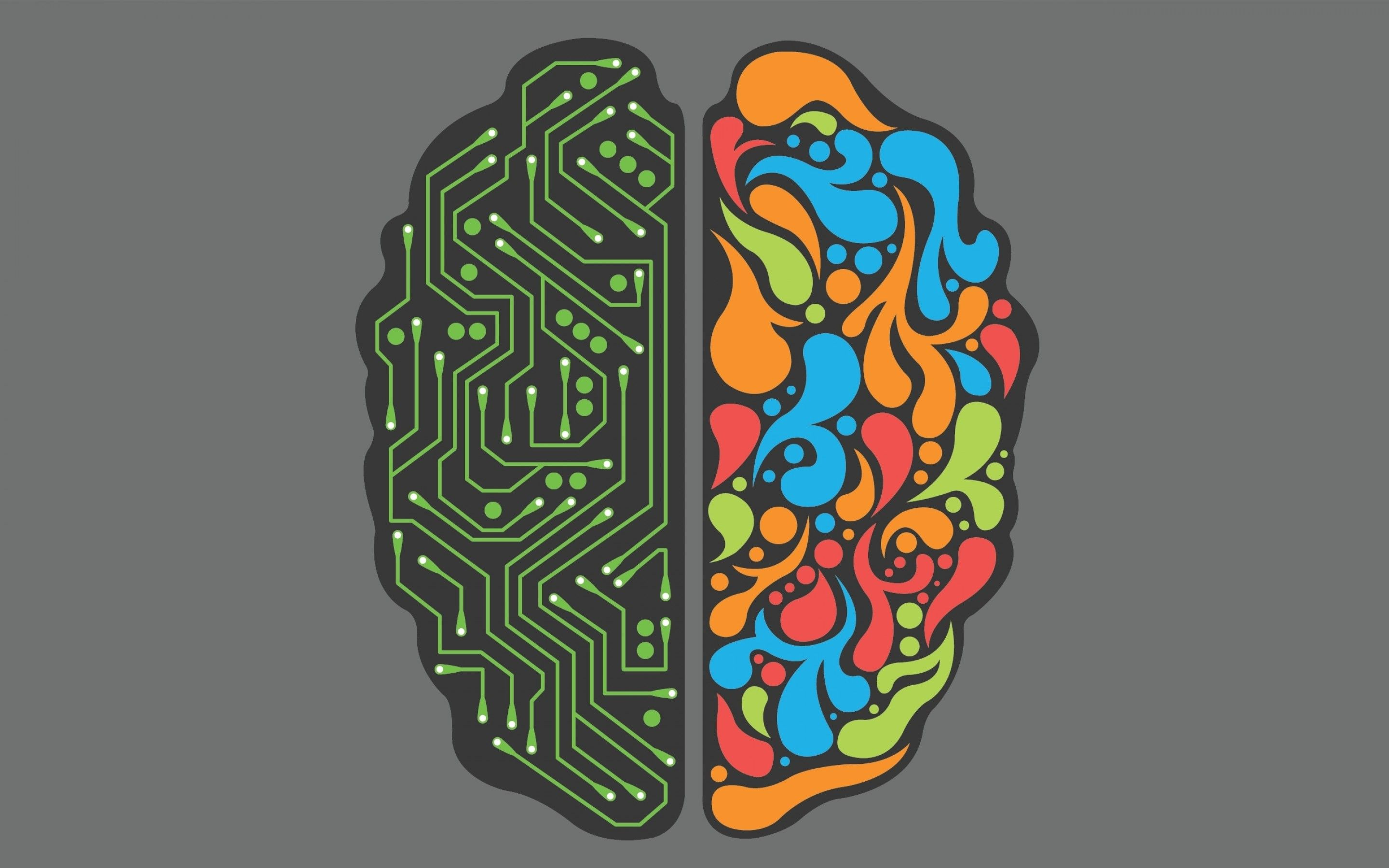 Abstract Minimalistic Circuit Brain Wallpapers Feed Brain Art Right Brain Left Brain Right Brain