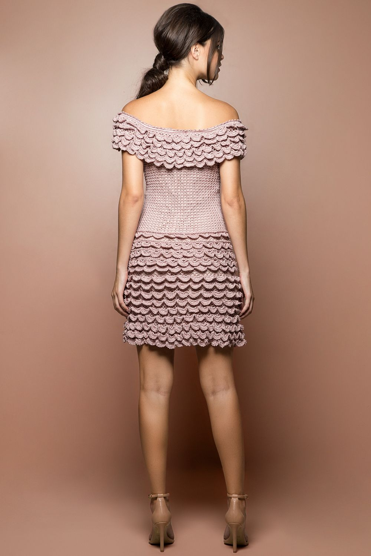 Vestido Crochet Scarlette Madrepérola - Vanessa Mo - vanessamontoro