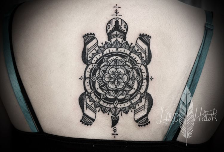 turtle mandala back tattoo tattoos pinterest. Black Bedroom Furniture Sets. Home Design Ideas