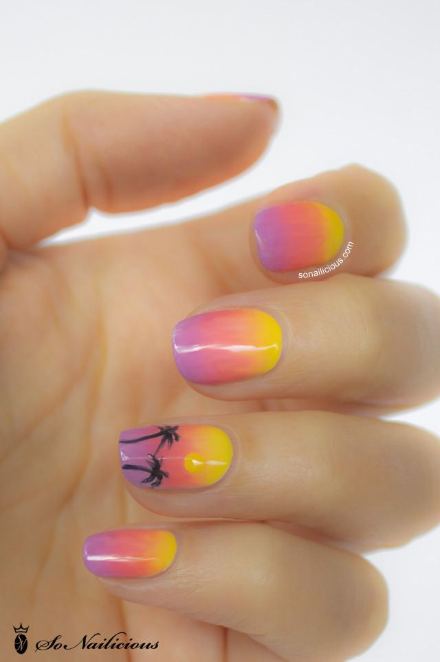 Ombre nails - day 18 - 28 days of SoNailicious Nails ...