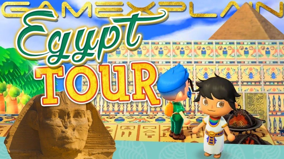 Egypt Travel Incredible Egypt Island Animal Crossing New Horizons Tour Pyramids Palaces More Animaux Pyramide