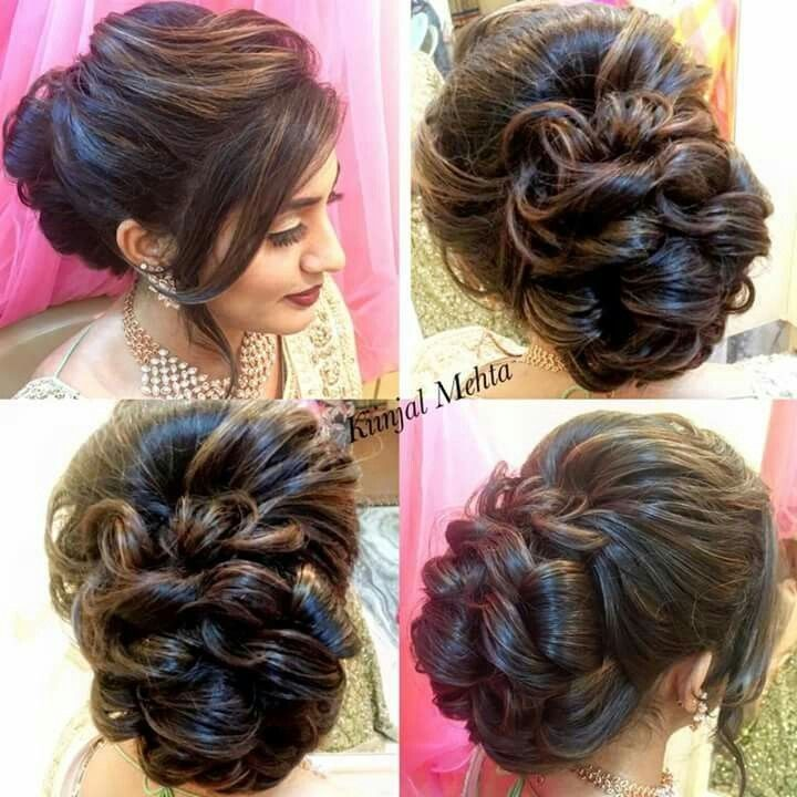 Elegante Indische Hochzeit Frisuren Fur Glattes Haar Indian Wedding Hairstyles Indian Hairstyles Bridal Hair Buns