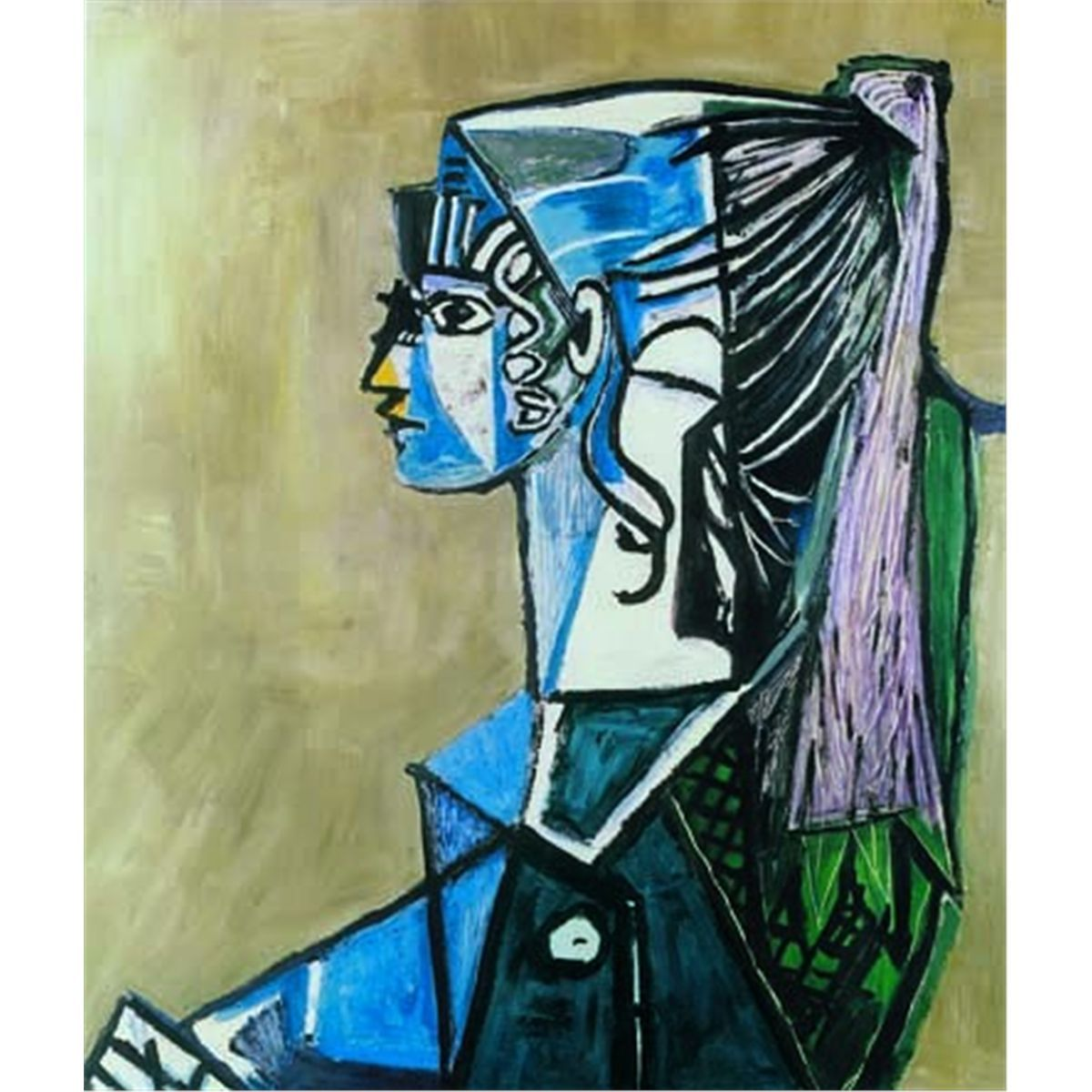 "Picasso Abstract Art Oil Painting Print On Canvas Decor/""Portrait Of Sylvette/"""