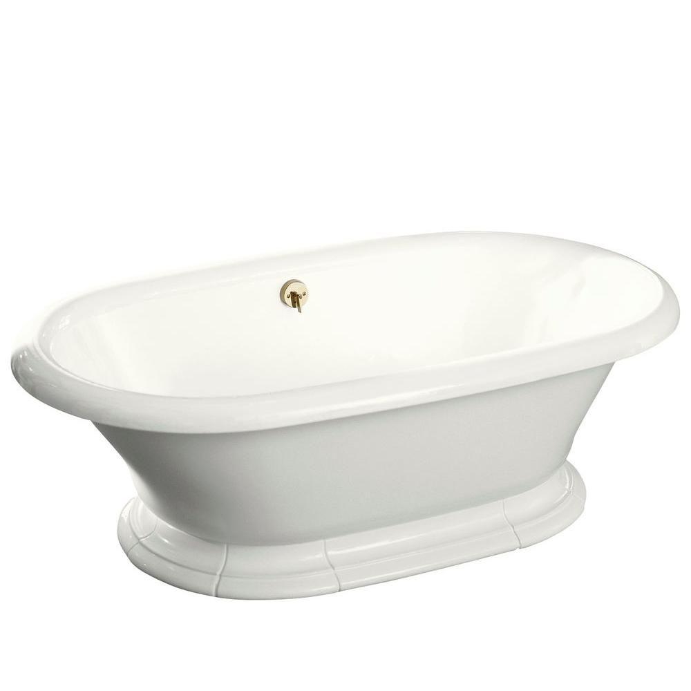 Kohler Vintage 6 Ft Center Drain Free Standing Cast Iron Bathtub