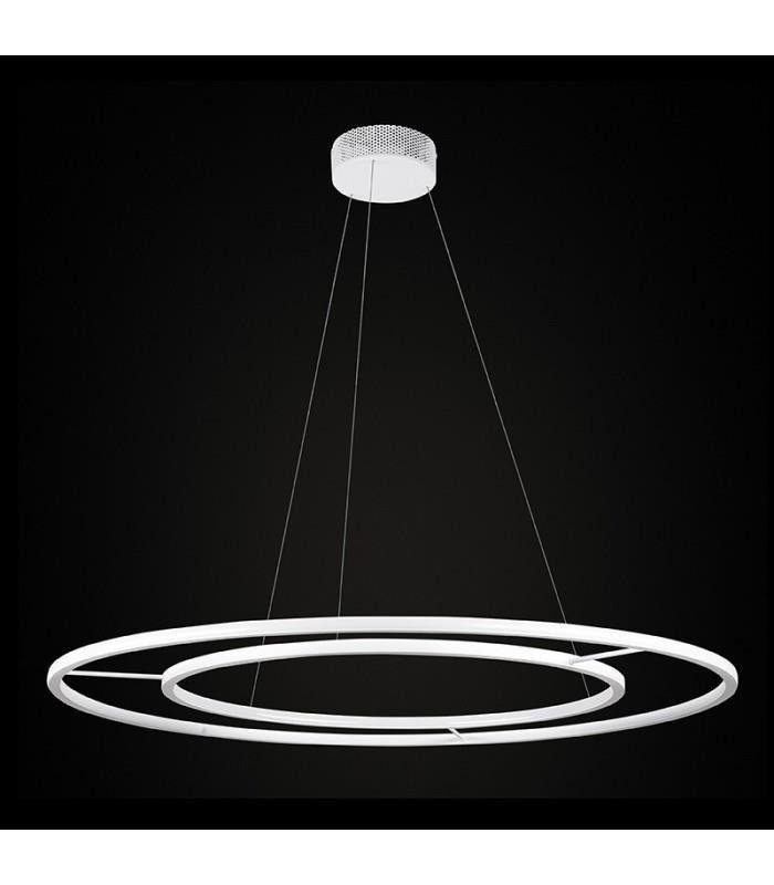 Echo Podwojny 120 Lampa Wiszaca Ramko Biala Lampy I Oswietlenie