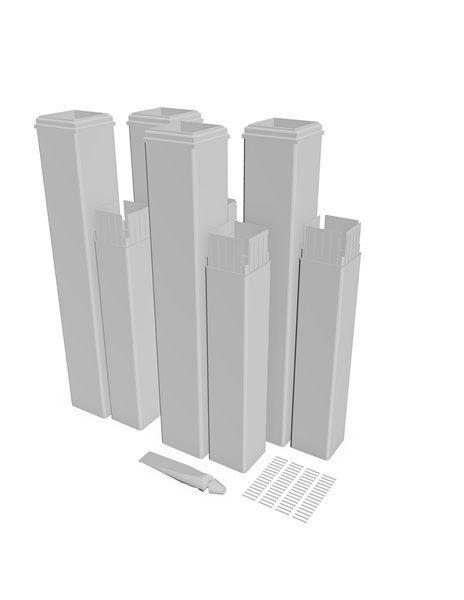 New England Arbors Pergola Extension Kit 4 Pack Pergolas Va80350 Rona Vinyl Pergola White Pergola Pergola Designs