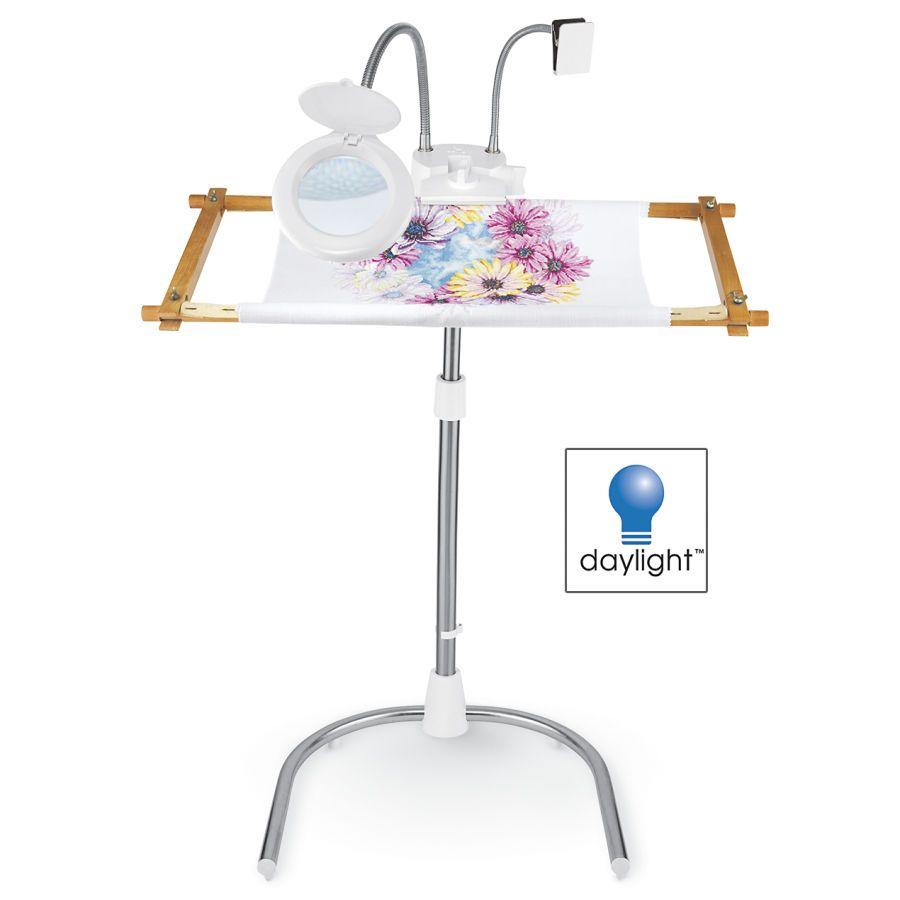 Cream Daylight Company StitchSmart Needlework Stand