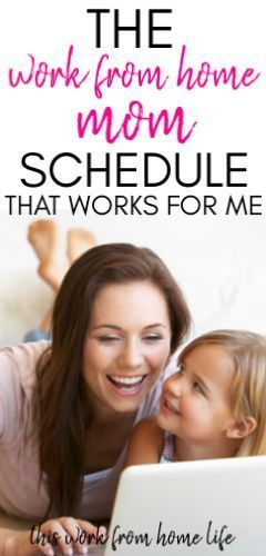 Working from home with kids - Sample Schedule