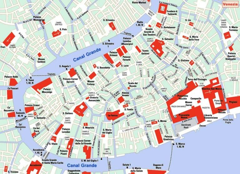 The Best Tourist Maps In Europe Tourist Map Venice Map Map