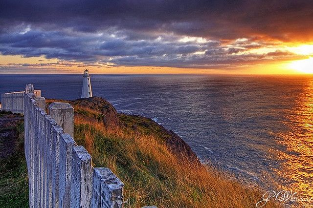 Cape Spear, Newfoundland. My mom and I drove here from St. John's to see the sunrise last fall. Beautiful! It is the most Eastern point in North America.