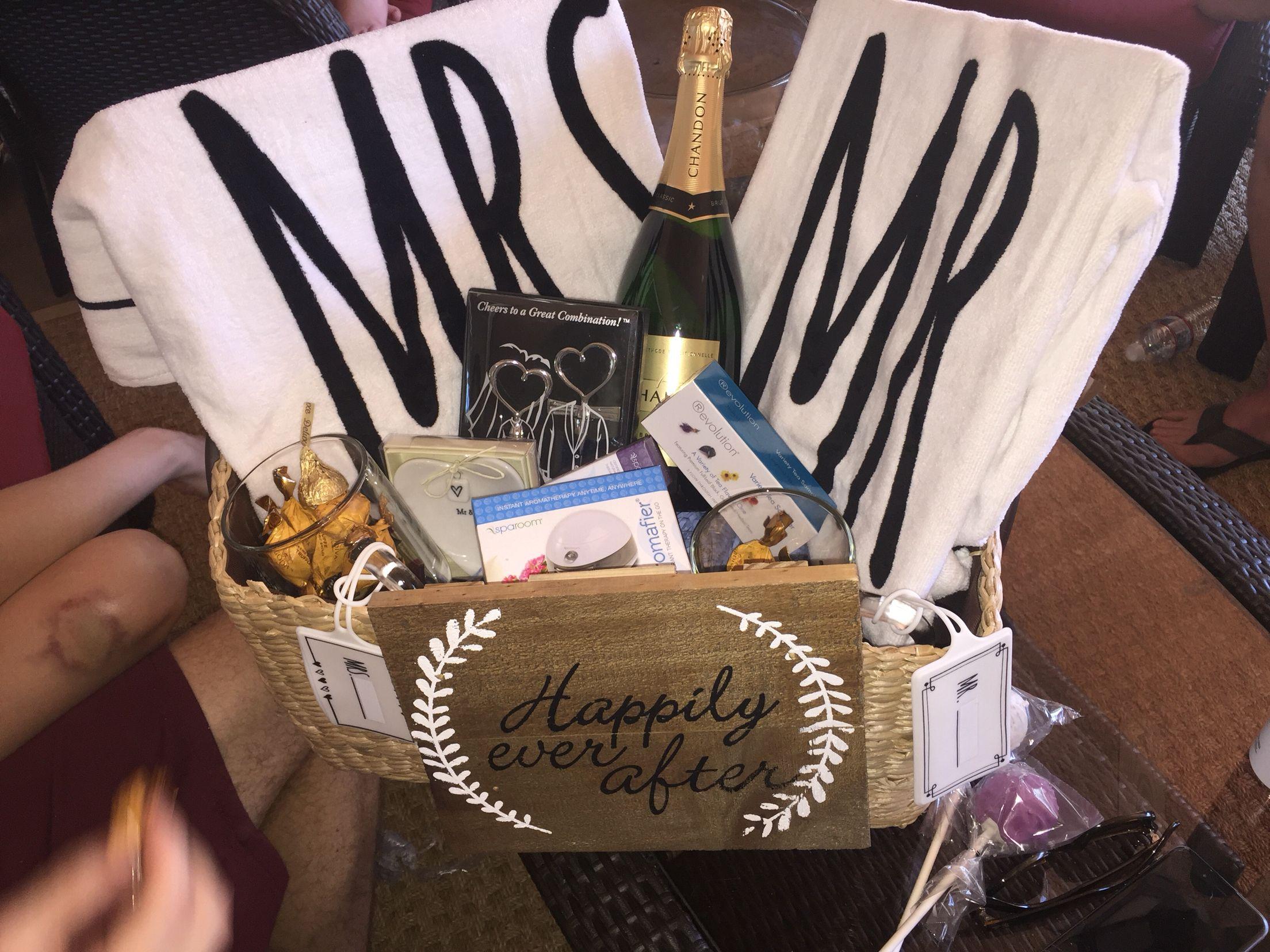 Wedding Gifts Honeymoon: Honeymoon Gift Basket For My Sister. Personalized It With