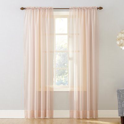 Emily Solid Color Sheer Rod Pocket Window Single Curtain Panel Curtain Color Whisper Size Per Panel 59 W X 95 L In 2020 Curtains Panel Curtains Drapes Curtains