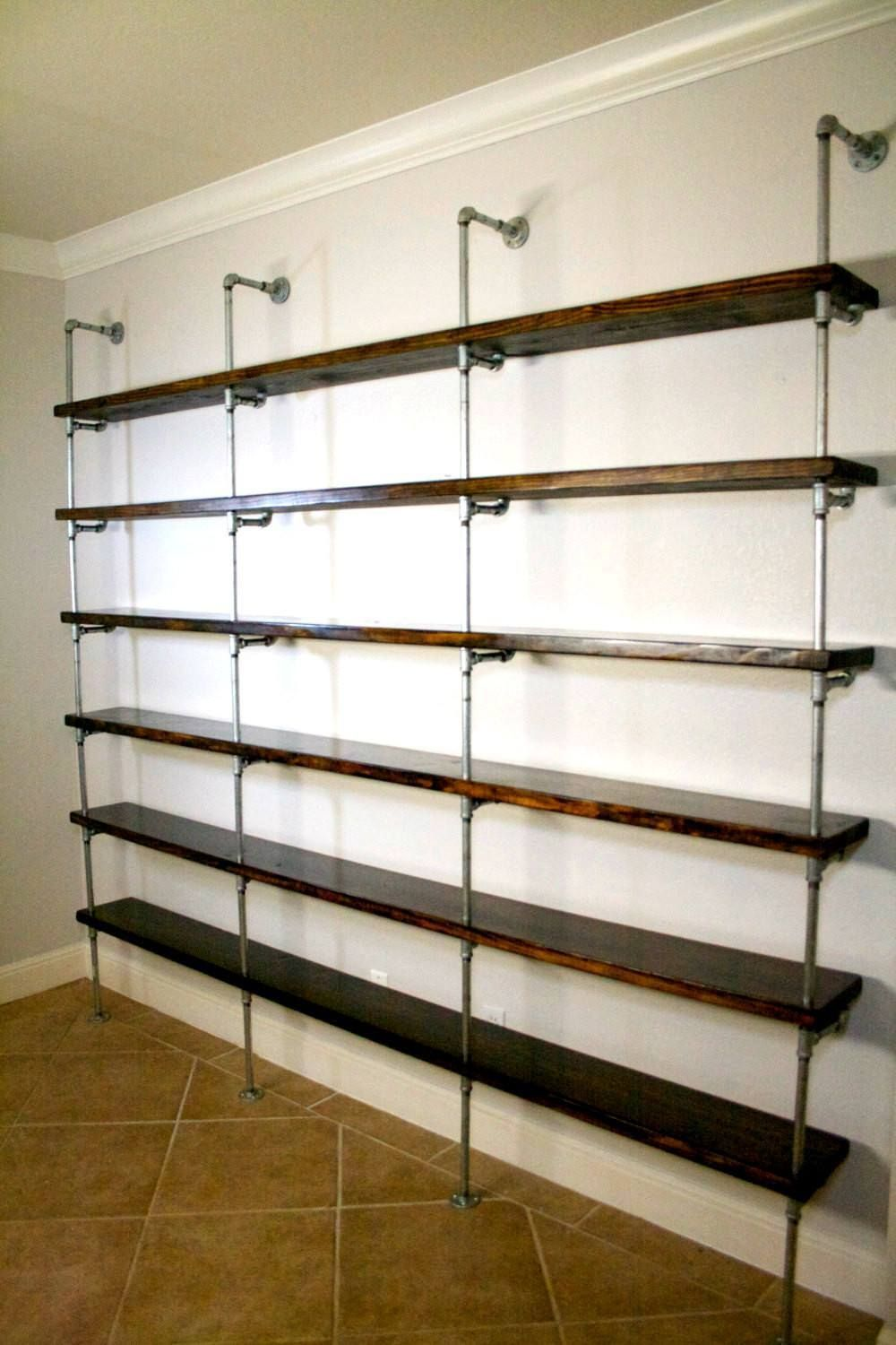 Industrial Shelving Unit   Industrial Office Furniture   Office Shelving    Urban Pipe Shelving   Metal And Wood Shelving   Industrial Shelf