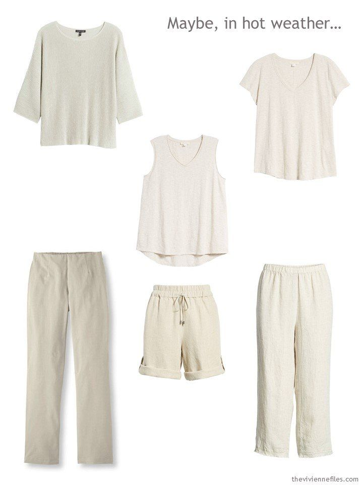 Wear a Uniform and Simplify your Summer Wardrobe - Using Beige as a Neutral #travelwardrobesummer