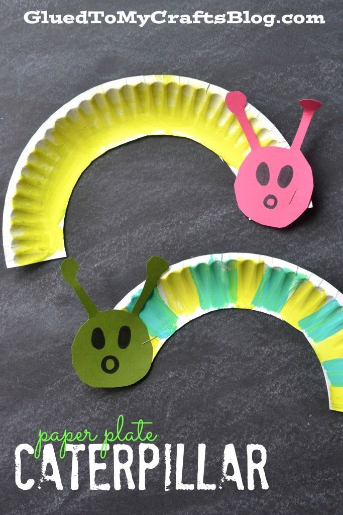Paper Plate Caterpillar - Kid Craft #toddlercrafts