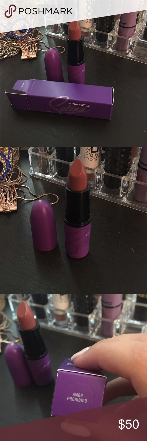 Selena Mac collection Amor Prohibido lipstick Worn twice. Not really my cup of t...,