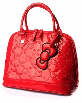 Loungefly Hello Kitty Patent PVC Embossed Tote Bag  0bef3b168fd09