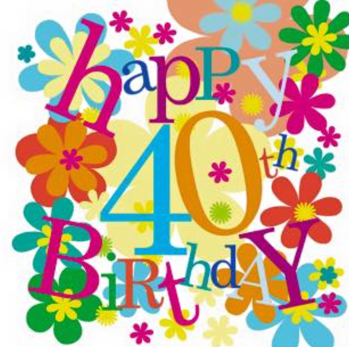 Pin by Cari S on bday 40 40th birthday images, Happy