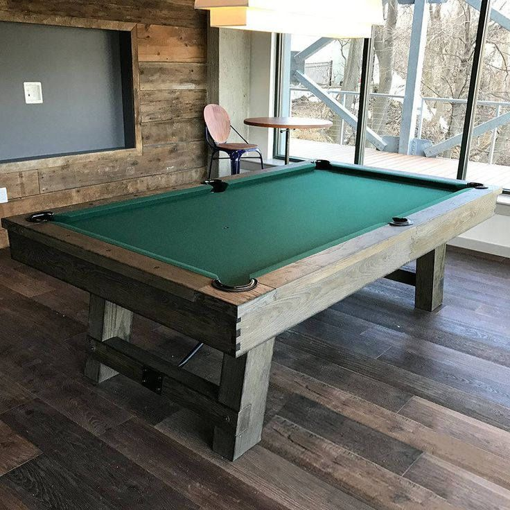 West Elm Inspired Pool Table Rustic Game Room Furniture Weathered Furniture  Rustic Home
