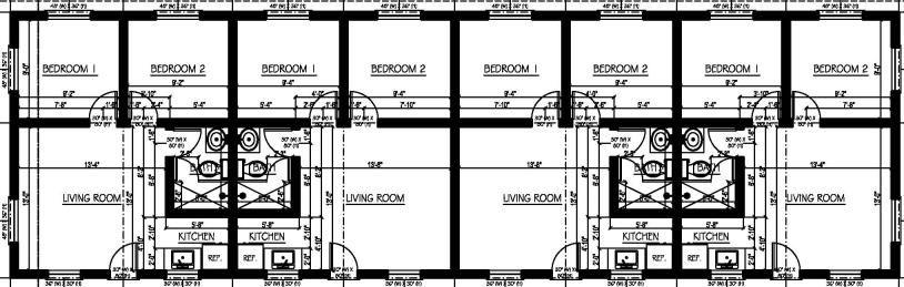 Single Story Multi Family House Plans Multi Plex House Plans And Multi Family Floor Plan Designs At Family House Plans House Plans Free House Plans