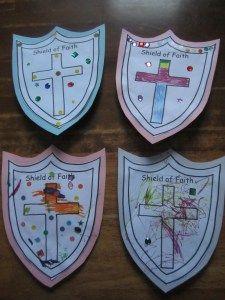 Shield Of Faith Craft 3 Yr Old Class Faith Crafts