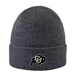 742e5faf55d CU Buffalo Cuffed Knit Beanie - Gray Grey Beanie