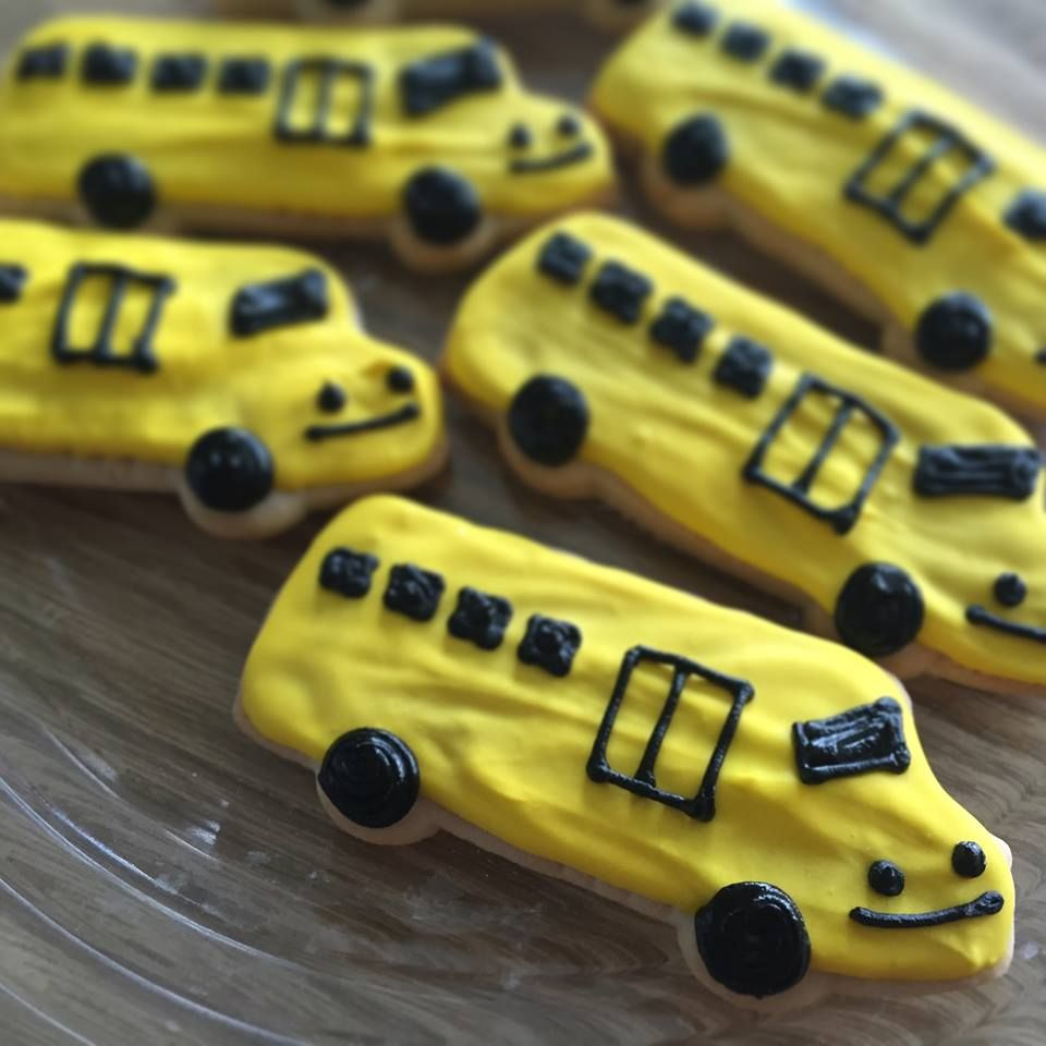 School Bus Cookies made and decorated at the Lambs Farm Magnolia Cafe & Bakery!