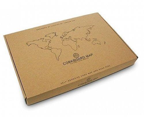 Corkboard World Map Cork Board Notice Memo Wall Board Travel Gift
