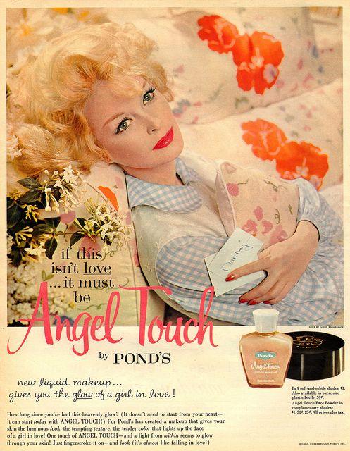 ponds angel touch liquid makeup (1960)