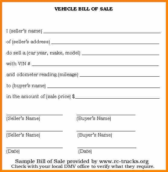 Automotive Bill Of Sale Template Bill Of Sale Car Bill Of Sale Template Bill Template