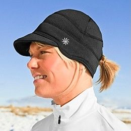 a6d147b6903 Winter running hat with a hole for my ponytail! Love!