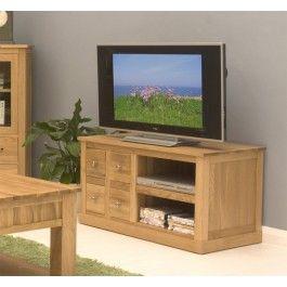 mobel oak solid oak four drawer television cabinet