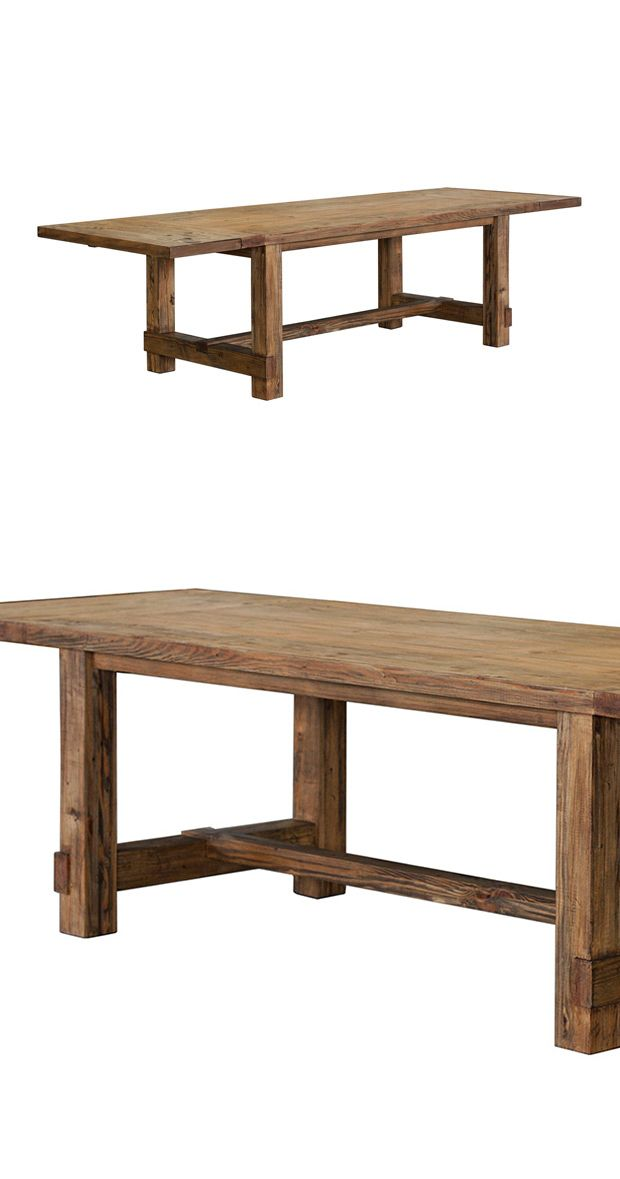 If you long for cabin-going or country-dwelling, this charmingly rustic dining table will prove a perfect fit. Gorgeously made entirely from pine, the Cottage Dining Table features wonderfully weathere... Find the Cottage Dining Table, as seen in the Dining Tables Collection at http://dotandbo.com/category/furniture/tables/dining-tables?utm_source=pinterest&utm_medium=organic&db_sku=114828