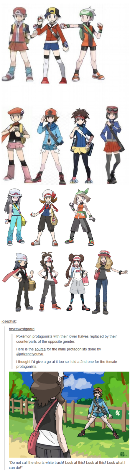 Shorts Are More Comfortable to Wear in Pokemon