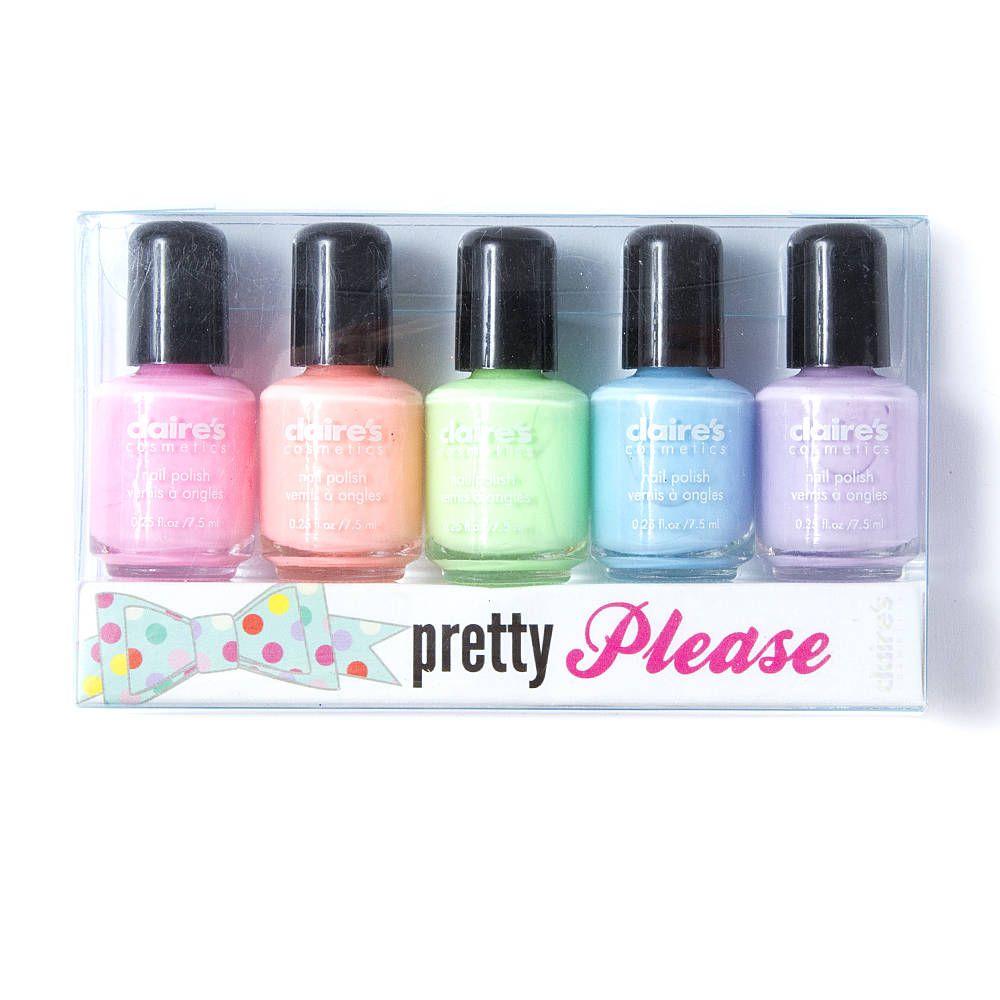 Pretty Please Nail Polish Set Of 5 Claire S